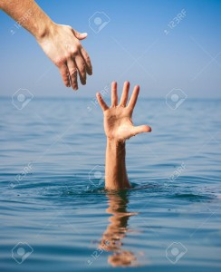 24973049-helping-hand-giving-to-drowning-man-in-sea-Stock-Photo
